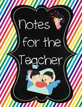 Notes for Teacher Binder Cover