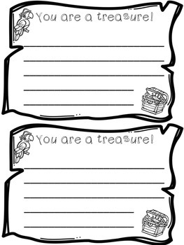 Notes for parents - Pirate theme