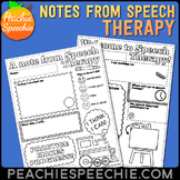 Notes from Speech Therapy - Keep Parents Informed