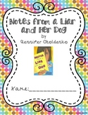 """""""Notes from a Liar and Her Dog"""" Complete Novel Unit"""