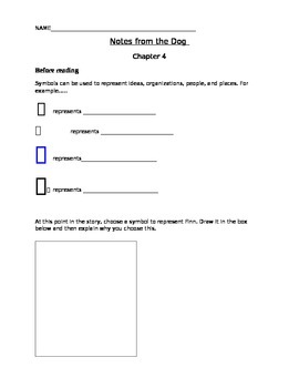 Notes from the Dog by Gary Paulsen, chapter 3-4 student activity pages