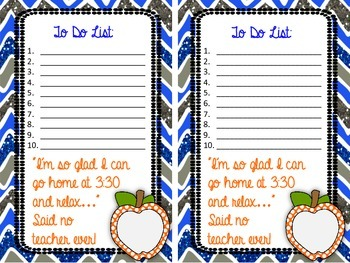 Notes from the Teacher (6 kinds of stationary)