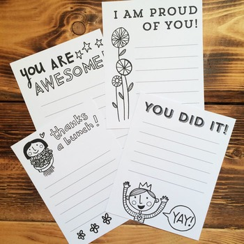 Notes of Encouragement Printables