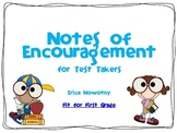 Notes of Encouragement for Test Takers FREEBIE