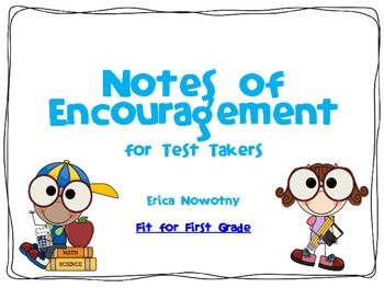 Unusual image for encouraging notes for students during testing printable
