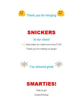 Notes of Encouragement to Promote Good Behavior (with a sweet treat)