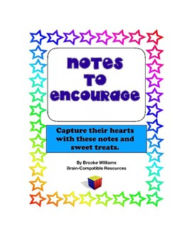 Notes of Encouragement with Sweet Treat for Increased Morale and Motivation