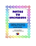 Notes of Encouragement with Sweet Treat for Increased Mora