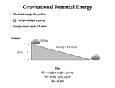 Notes of Gravitational Potential Energy
