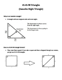 Notes on 45-45-90 Triangles