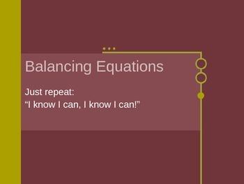 Notes on Balancing Equations