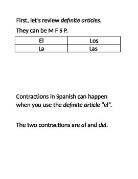 Notes on Contractions