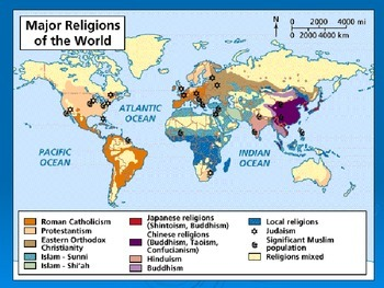 Notes on European religion, languages, location and trade