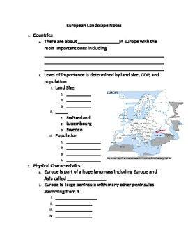 Notes on Europe's Geography
