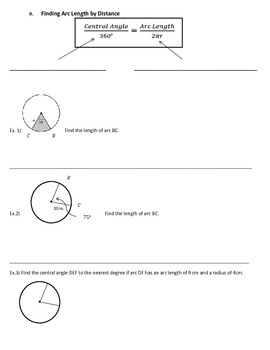Notes on Finding Arc Length in Circles - Geometry, Math III
