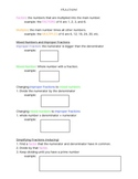 Notes on Fraction Operations