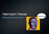 Notes on Hermann Hesse (for Siddhartha)
