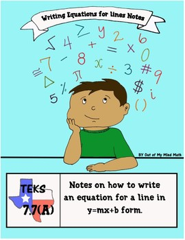 Notes on How to Write an Equation for a Line