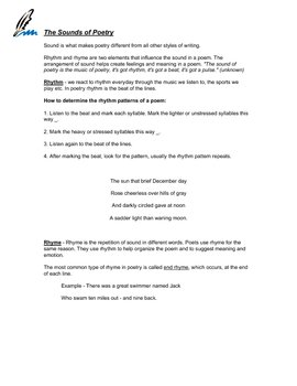 Notes on Poetry / Poetry Unit