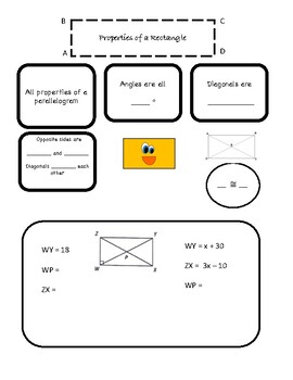 Notes on Properties Parallelograms, Rectangles, Squares and Rhombi