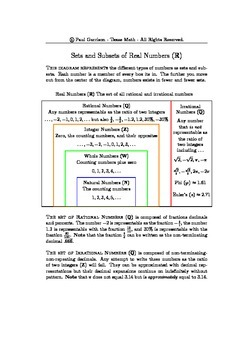 Notes on Real Numbers