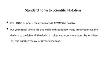 Notes on Scientific Notation