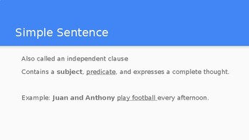 Notes on Sentence Structure