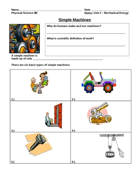 Notes on Simple Machines (force work mechanical)