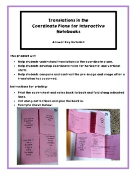 Notes on Transformations in the Coordinate Plane for Interactive Notebooks