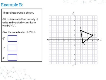 Notes: Translating Geometric Figures on a coordinate Plane