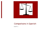 Notes on teaching Comparisons and Superlatives (Spanish II)