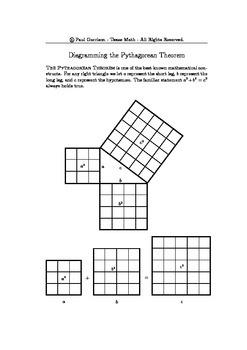 Notes on the Pythagorean Diagrams