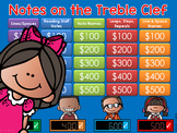 Notes on the Treble Clef Jeopardy Style Game Show Music