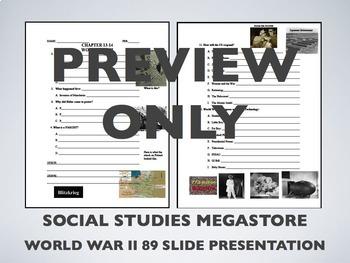 World War II PPT notes sheet