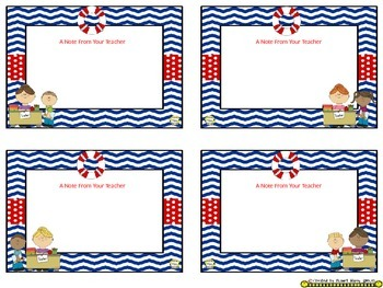 Notes/Notecards (EDITABLE) ~ Nautical