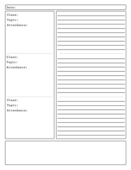 Printable Freebie Notetaking Anecdotal Records