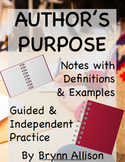 Author's Purpose Note Taking PowerPoint with Guided & Independent Practice
