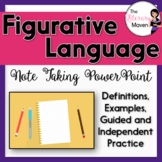 Figurative Language Note Taking PowerPoint with Guided & I