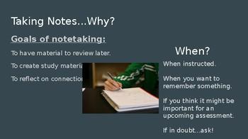 Notetaking & Study Skills Slideshow
