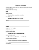 Notetaking guide on Figurative Language