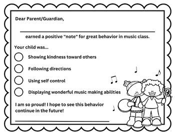 Noteworthy Behavior Card
