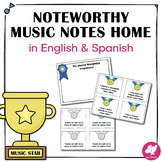 Music Positive Notes Home in English and Spanish!