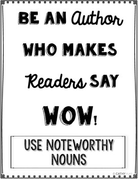 Noteworthy Nouns Games, Writing Prompts, Interactive Games, Thesaurus Work