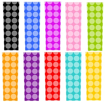 Nothin' But Dots, TEN SETS, Bulleting Board Letters, Clip Art. Print Your Own