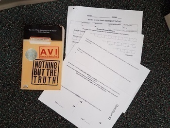 Nothing But The Truth by Avi Socratic Seminar packets and rubric