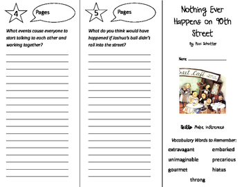 Nothing Ever Happens on 90th Street Trifold - Storytown 5th Grade Unit 4 Week 2