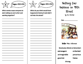Nothing Ever Happens on 90th Street Trifold - Storytown 5t