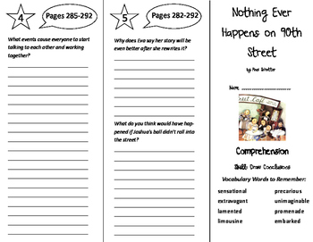 Nothing Ever Happens on 90th Street Trifold - Treasures 6th Grade Unit 3 Week 2
