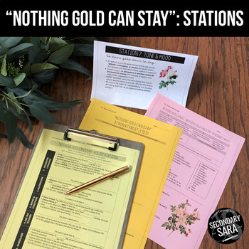 Nothing Gold Can Stay: 2-Day Reading Stations & Quiz (The Outsiders)