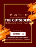 Nothing Gold Can Stay-Common Core Literary Analysis (Outsiders Chapter 5)